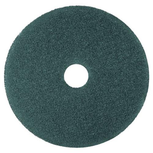"""3M Cleaner Floor Pad 5300, 12"""" Diameter, Blue, 5/Carton (MCO 08405)"""