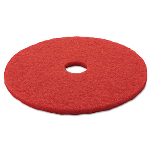 "3M Low-Speed Buffer Floor Pads 5100, 20"" Diameter, Red, 5/Carton (MCO 08395)"