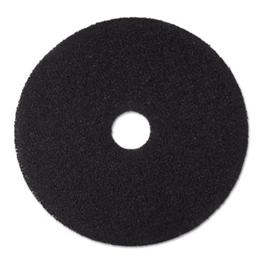 "3M Low-Speed Stripper Floor Pad 7200, 19"" Diameter, Black, 5/Carton (MCO 08381)"