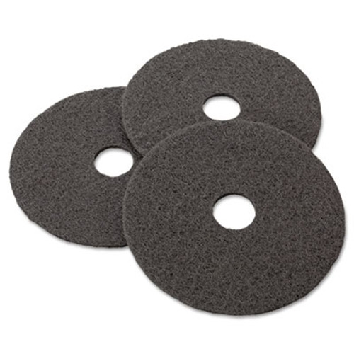 "3M Low-Speed Stripper Floor Pad 7200, 17"" Diameter, Black, 5/Carton (MCO 08379)"