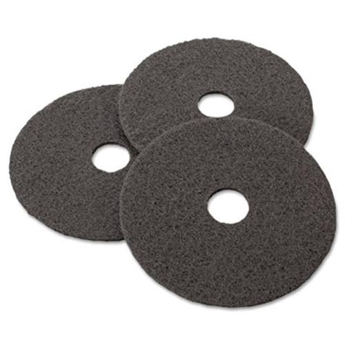 "3M Low-Speed Stripper Floor Pad 7200, 17"", Black, 5/Carton (MCO 08379)"