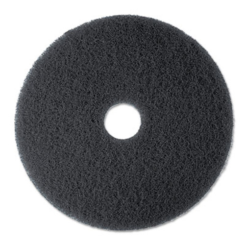 "3M High Productivity Floor Pad 7300, 17"" Diameter, Black, 5/Carton (MCO 08275)"