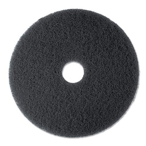 "3M High Productivity Floor Pad 7300, 13"" Diameter, Black, 5/Carton (MCO 08271)"