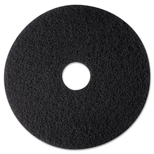 "3M High Productivity Floor Pad 7300, 12"" Diameter, Black, 5/Carton (MCO 08270)"