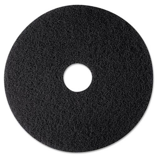 "3M High Productivity Floor Pad 7300, 12"" Diameter, Black, 5/Carton (MCO 08270)"