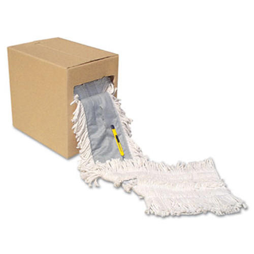 "Boardwalk Flash Forty Disposable Dustmop, Cotton, 5"", Natural (UNS FF40)"