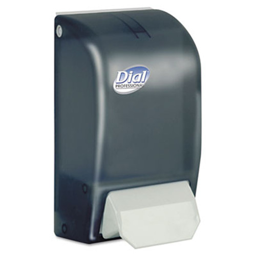 Dial 1 Liter Manual Foaming Dispenser, 1000mL, 5 x 4 1/2 x 9, Smoke (DIA 06055)