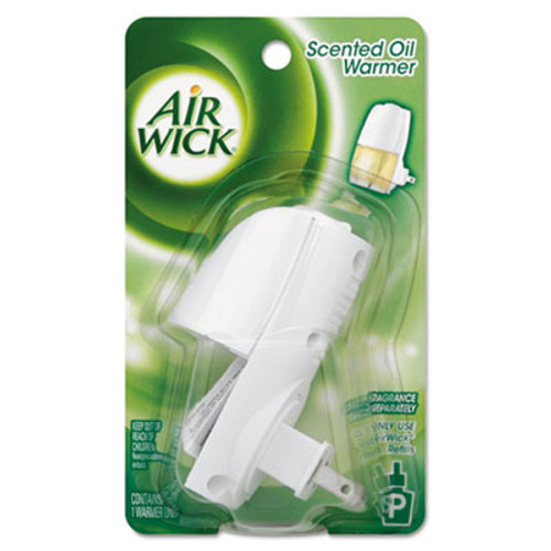 Air Wick Scented Oil Warmer, 1 3/4w x 2 11/16d x 3 5/8h, White/Gray, 6/Carton (REC 78046)