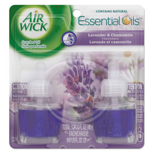 Air Wick Scented Oil Refill, Lavender & Chamomile, 0.67oz, Purple, 2/Pack (REC 78473)