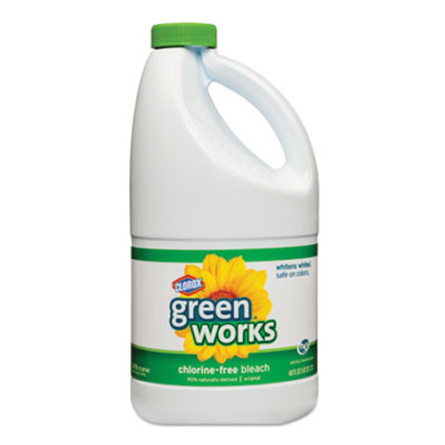 Green Works Chlorine Free Stain Remover and Bleach, 60 oz Bottle, 8/Carton (CLO 30647)