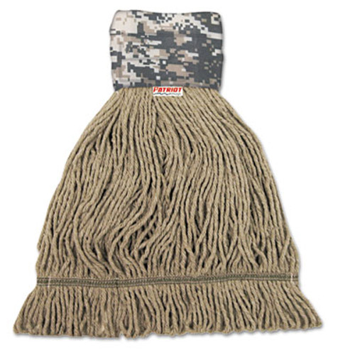 Boardwalk Patriot Looped End Wide Band Mop Head, Medium, Green/Brown, 12/Carton (UNS 8200M)