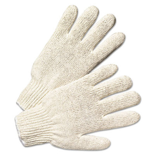 Anchor Brand String Knit Gloves, Large, Natural White, 12 Pairs (ANR6700)