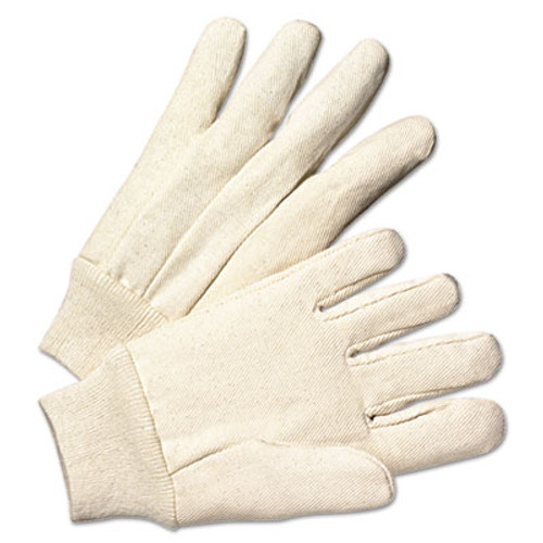 Anchor Brand Light-Duty Canvas Gloves, White, Dozen (ANR1110)
