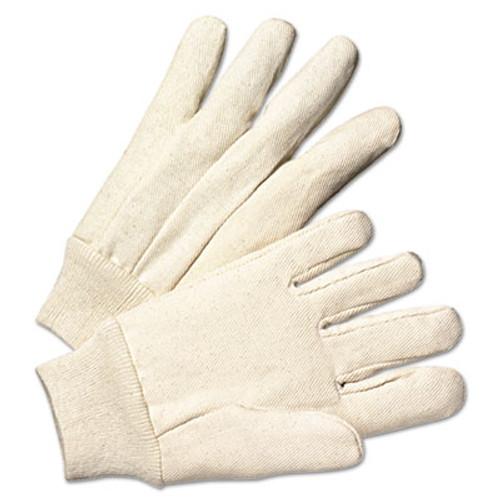 Anchor Brand Light-Duty Canvas Gloves, White, Dozen (ANR1110)