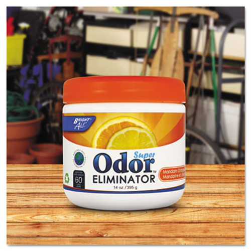 BRIGHT Air Super Odor Eliminator, Mandarin Orange and Fresh Lemon, 14oz, 6/Carton (BRI 900013)