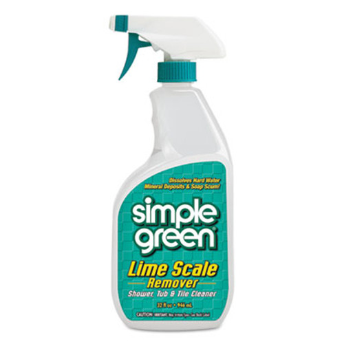 Simple Green Lime Scale Remover, Wintergreen, 32 oz Bottle, 12/Carton (SMP 50032)