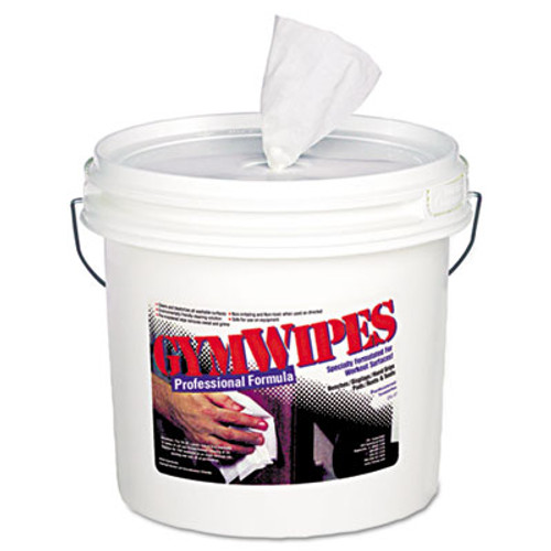 2XL Gym Wipes Professional, 6 x 8, Unscented, 700/Bucket, 2 Buckets/Carton (TXL L37)