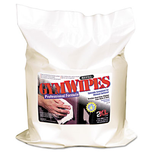 2XL Gym Wipes Professional, 6 x 8, Unscented, 700/Pack, 4 Packs/Carton (TXL L38)