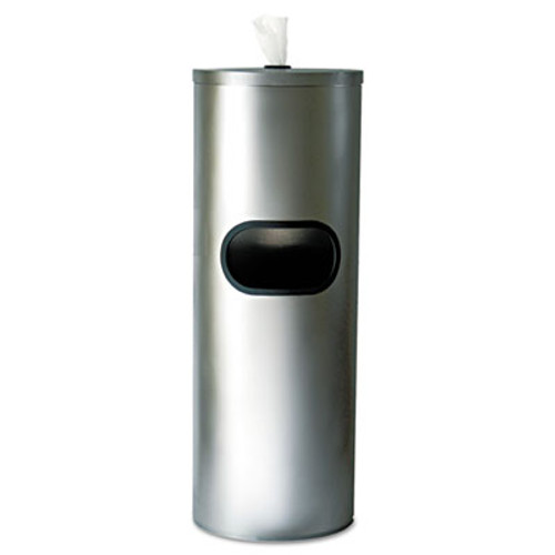 2XL Standing Stainless Wipes Dispener, Cylindrical, 5gal, Stainless Steel (TXL L65)