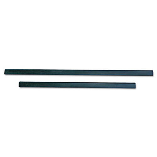 """Unger ErgoTec Replacement Squeegee Blades, 12"""" Wide, Black Rubber, Soft, 12/Pack (UNG RT30)"""