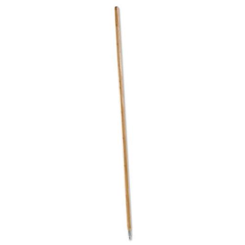 Boardwalk Metal Tip Threaded Hardwood Broom Handle, 1 1/8 dia x 60, Natural (BWK 138)