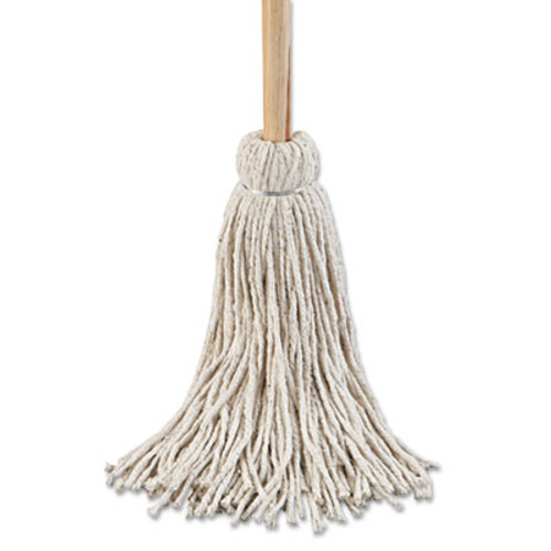 "Boardwalk Deck Mop; 54"" Wooden Handle, 24oz Cotton Fiber Head, 6/Pack (UNS 124C)"