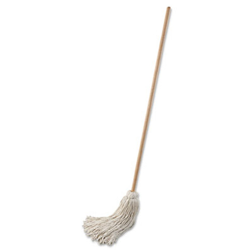 "Boardwalk Deck Mop; 54"" Wooden Handle, 32 oz Cotton Fiber Head, 6/Pack (UNS 132C)"