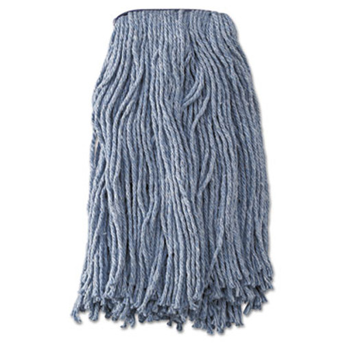 Boardwalk Mop Head, Standard Head, Cotton/Synthetic Fiber, Cut-End, #20, Blue, 12/Carton (UNS 2020B)