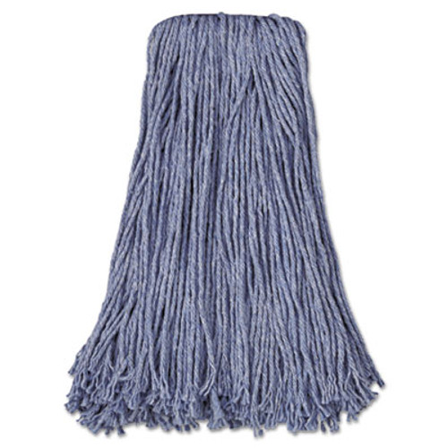 Boardwalk Mop Head, Standard Head, Cotton/Synthetic Fiber, Cut-End, #24, Blue, 12/Carton (UNS 2024B)
