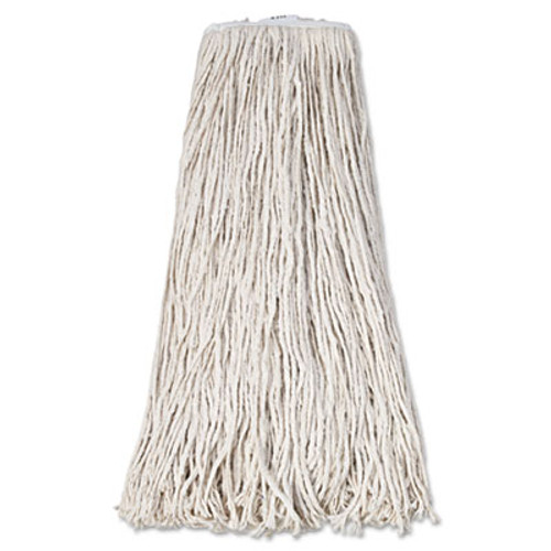 Boardwalk Mop Head, Premium Standard Head, Cotton Fiber, 32oz, White, 12/Carton (UNS 232C)