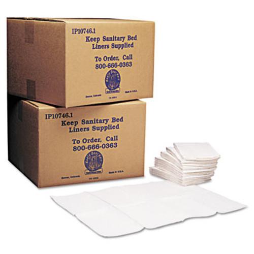 Koala Kare Baby Changing Station Sanitary Bed Liners, White, 500/Carton (KKP KB150-99)