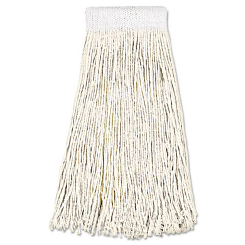 Boardwalk Mop Head, Premium Saddleback Head, Cotton Fiber, 24oz, White, 12/Carton (UNS 324C)