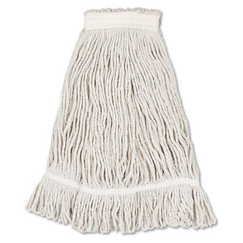 Boardwalk Mop Head, Loop Web/Tailband, Value Standard, Cotton, No. 32, White, 12/Carton (UNS 4032C)
