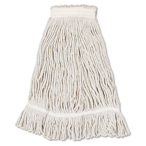 Boardwalk Mop Head, Loop Web/Tailband, Value Standard, Cotton, No. 32, White, 12/Carton (UNS 4032C)