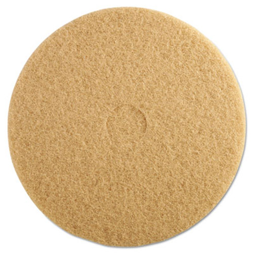"3M Ultra High-Speed Floor Burnishing Pads 3400, 20"" Diameter, Tan, 5/Carton (MCO 05606)"