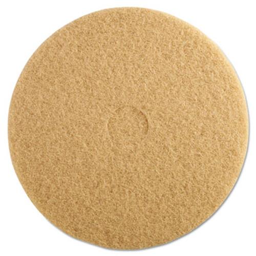 "3M Ultra High-Speed Floor Burnishing Pads 3400, 20"" Diameter, Tan, 5/Carton (MCO 05606)"