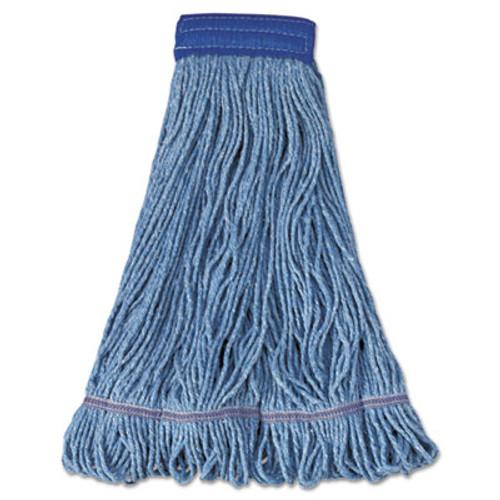 Boardwalk Mop Head, Super Loop Head, Cotton/Synthetic Fiber, X-Large, Blue, 12/Carton (UNS 504BL)