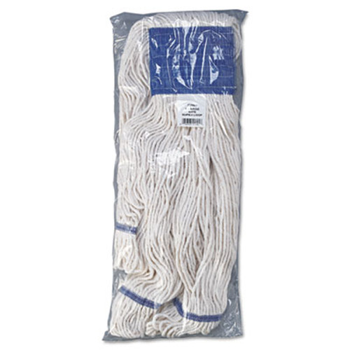 Boardwalk Mop Head, Super Loop Head, Cotton/Synthetic Fiber, X-Large, White, 12/Carton (UNS 504WH)