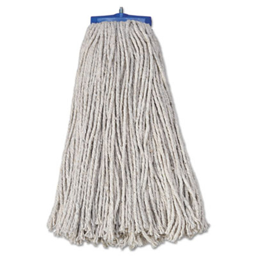 Boardwalk Mop Head, Economical Lie-Flat Head, Cotton Fiber, 20oz, White, 12/Carton (UNS 720C)