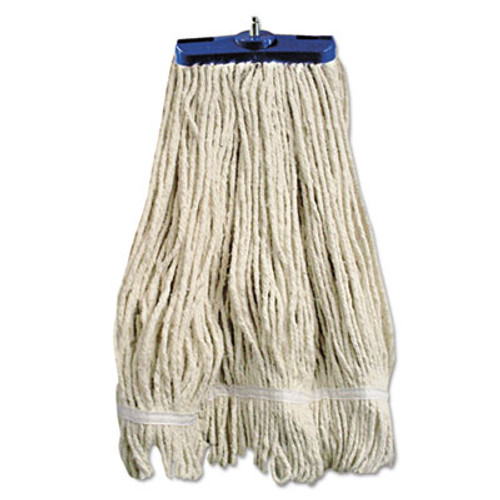 Boardwalk Mop Head, Lie-Flat Head, Cotton Fiber, 24oz, White, 12/Carton (UNS 824C)
