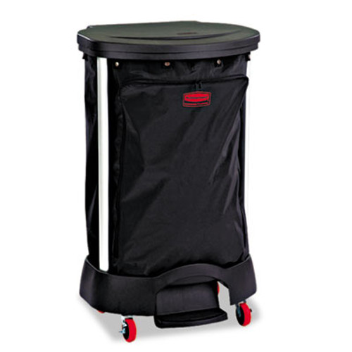 Rubbermaid Premium Step-On Linen Hamper Bag, 13 3/8w x 19 7/8d x 29 1/4h, Nylon, Black (RCP 6350 BLA)