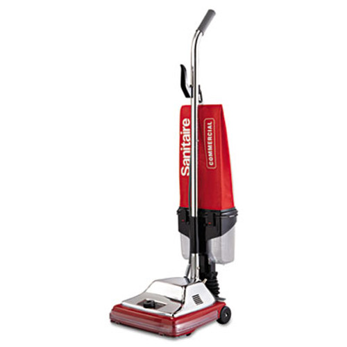 "Sanitaire Commercial Upright with EZ Kleen Dirt Cup, 7 Amp, 12"" Path, Red/Steel (EUR 887)"