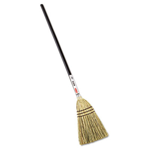 "Rubbermaid Lobby Corn-Fill Broom, 38"" Handle, Brown (RCP 6373 BRO)"