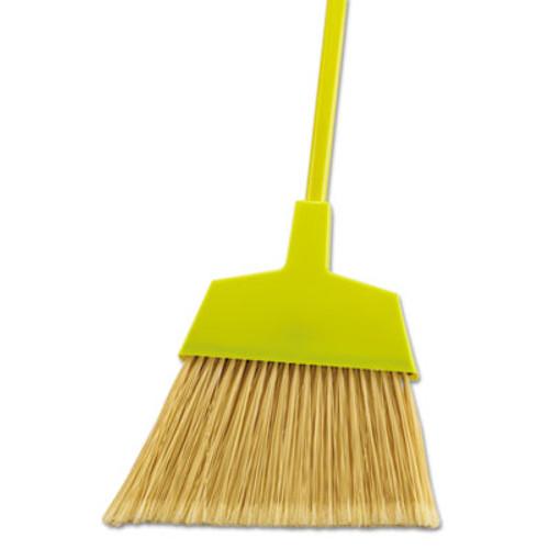 "Boardwalk Poly Bristle Angler Broom, 53"" Handle, Yellow, 12/Carton (UNS 932M)"