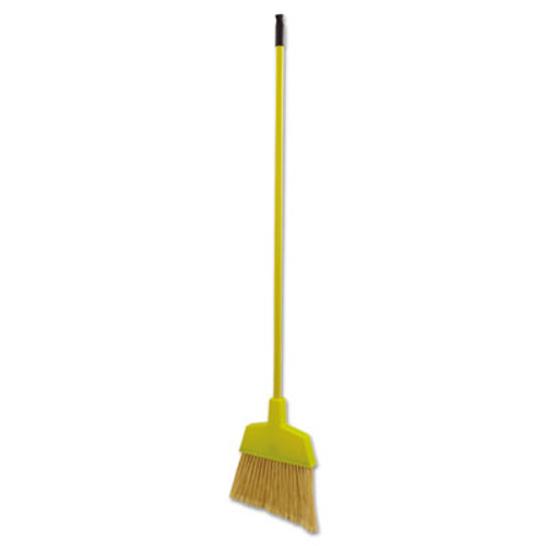 "Boardwalk Poly Bristle Angler Broom, 53"" Handle, Yellow, 12/Carton (UNS 932M)"