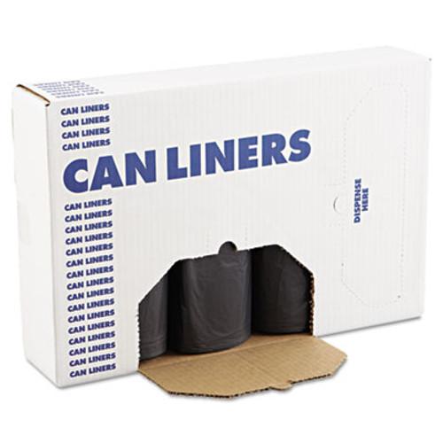 Boardwalk SH-Grade Repro Can Liners, 40x46, 45gal, 1.2mil, Black, 10 Bag/Roll, 10 Roll/CT (BWK 517)