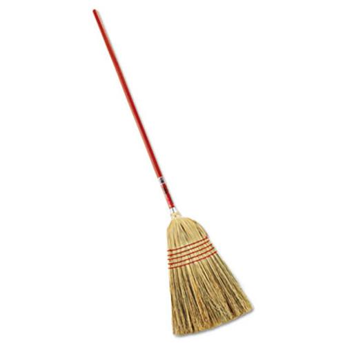 "Rubbermaid Standard Corn-Fill Broom, 38"" Handle, Red (RCP 6381)"