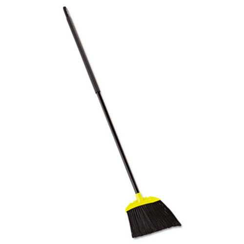 "Rubbermaid Jumbo Smooth Sweep Angled Broom, 46"" Handle, Black/Yellow, 6/Carton (RCP 6389-06 BLA)"