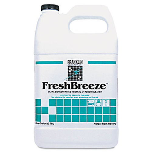 Franklin Cleaning Technology FreshBreeze Ultra Concentrated Neutral pH Cleaner, Citrus, 1gal, 4/Carton (FRK F378822)