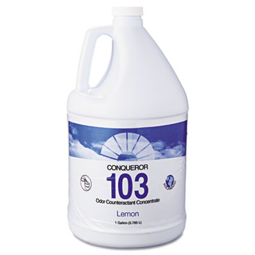 Fresh Products Conqueror 103 Odor Counteractant Concentrate, Lemon, 1 gal Bottle, 4/Carton (FRS 1-WB-LE)